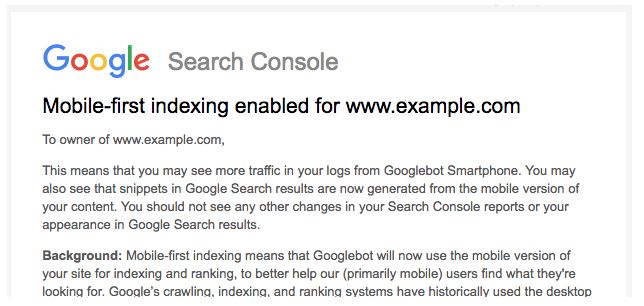Google Starts Launching Out Mobile First Indexing