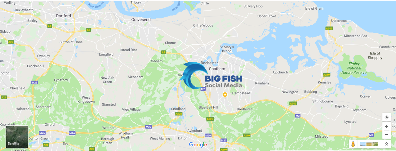 Map Of Medway Big Fish Social Media